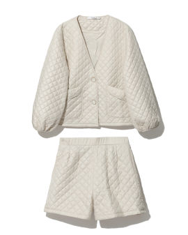 Quilted jacket and shorts set