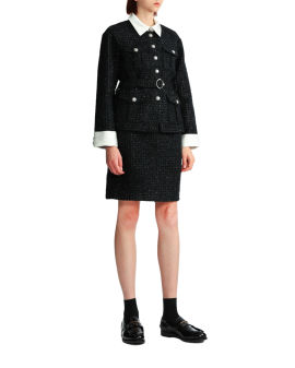 Shirt and mini skirt set
