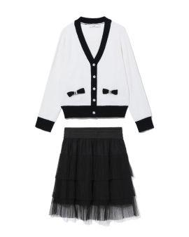 Cardigan and skirt set