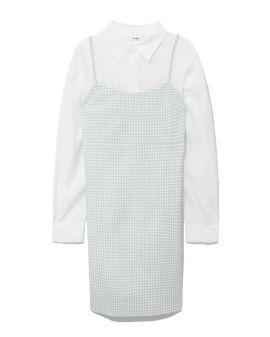 Button-up shirt and dress set
