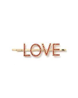 Embellished 'LOVE' hair pin