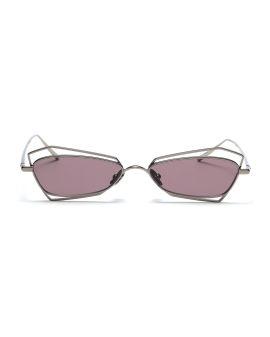Narrow geometric sunglasses