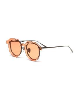 Lense-over-frame round sunglasses