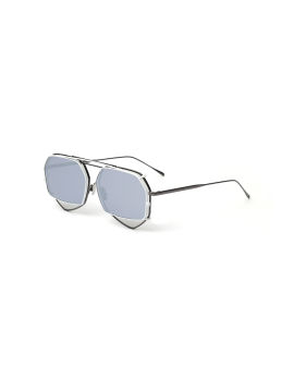 Hexagon clip-on sunglasses