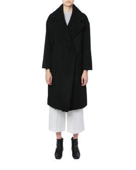 Faux shearling overcoat