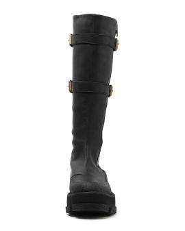 X Dion Lee Gao platform knee high boots