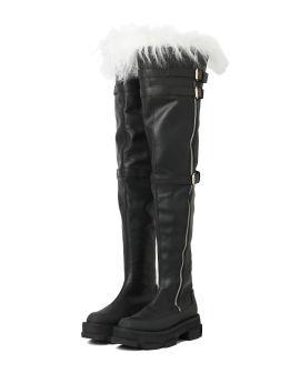 X Dion Lee Gao platform shearling boots