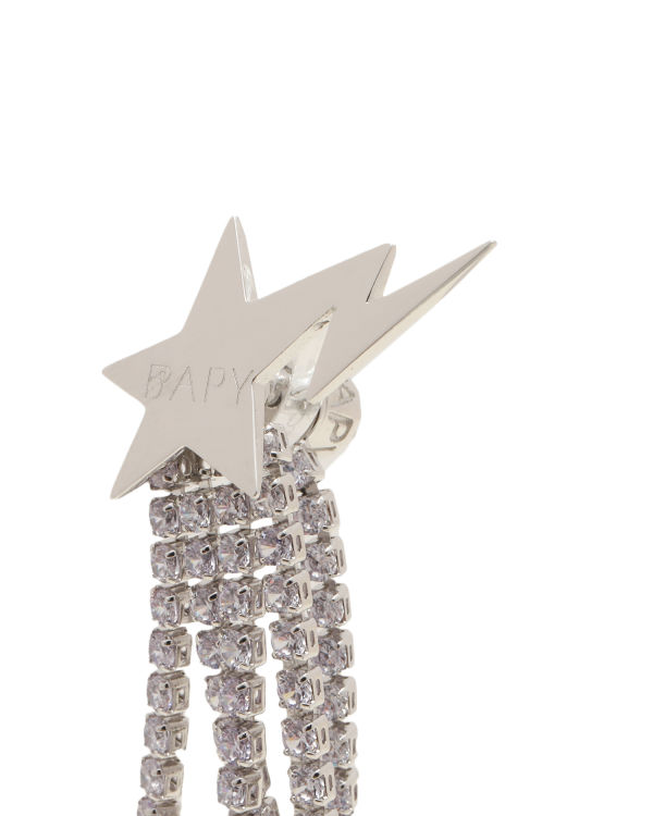 Logo star chains earrings