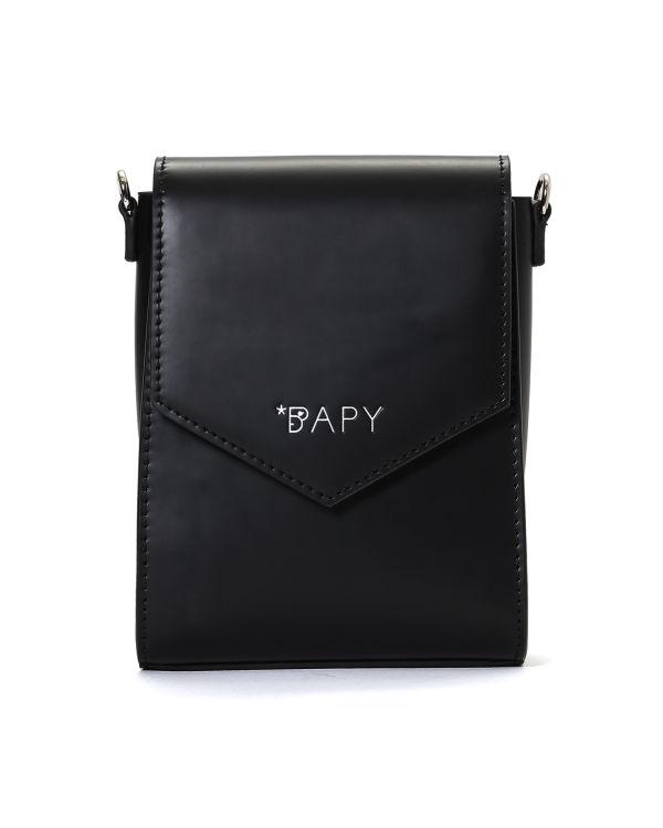 Logo debossed flap bag