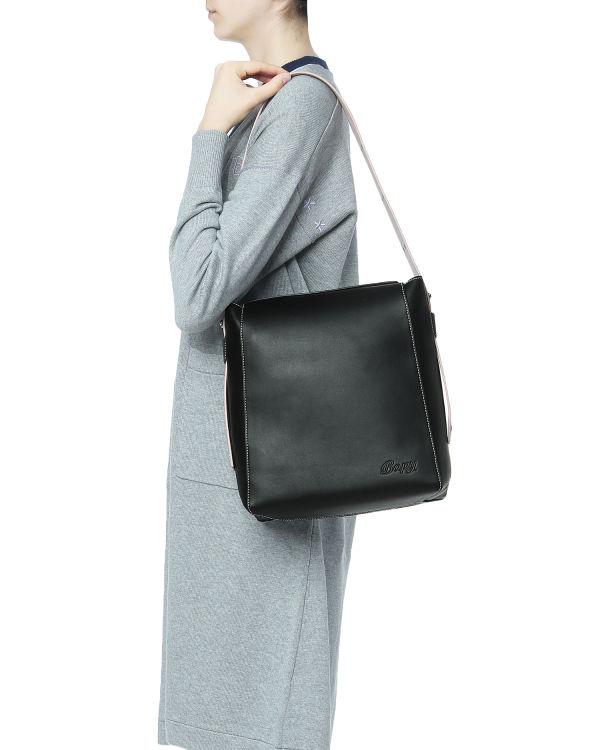 Contrast stitch shoulder bag
