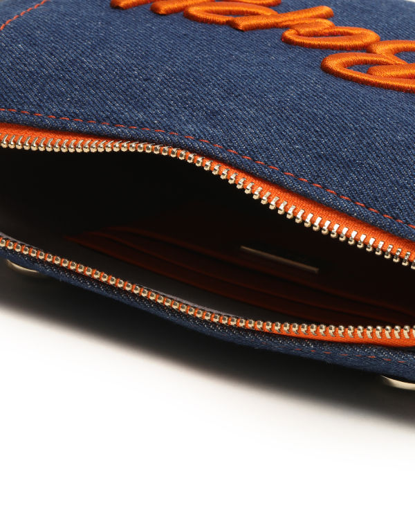 Contrast stitch pouch bag