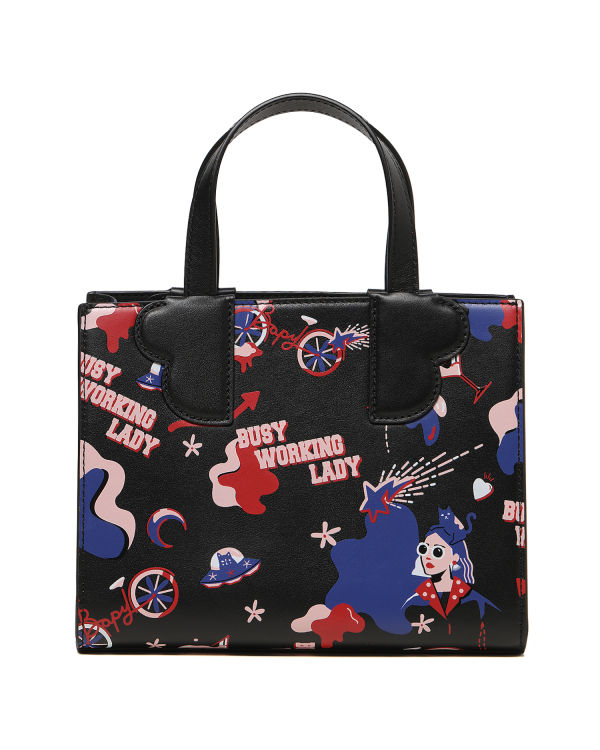 """Busy Working Lady"" graphic bag"