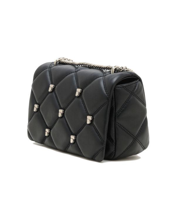 Quilted leather shoulder bag