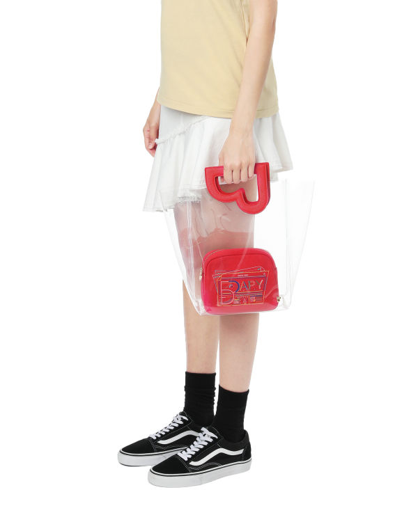 Transparent tote and pouch bag