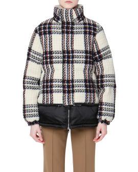 Tweed panelled down jacket