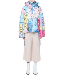 X KHRISJOY Contrast patchwork down jacket