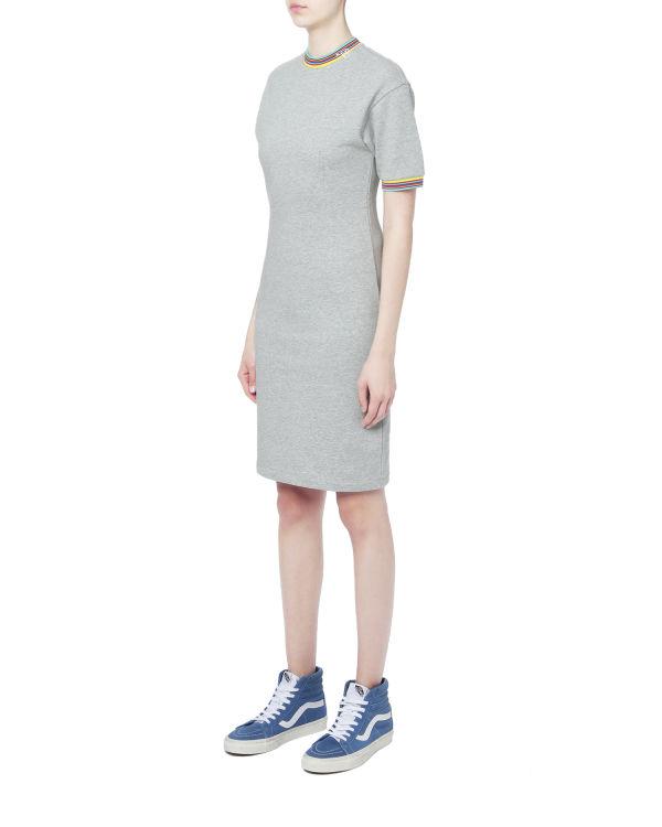 Stripe trim sweat dress