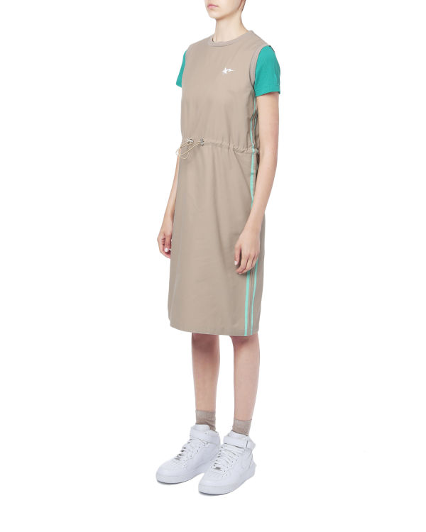 Taped drawcord dress