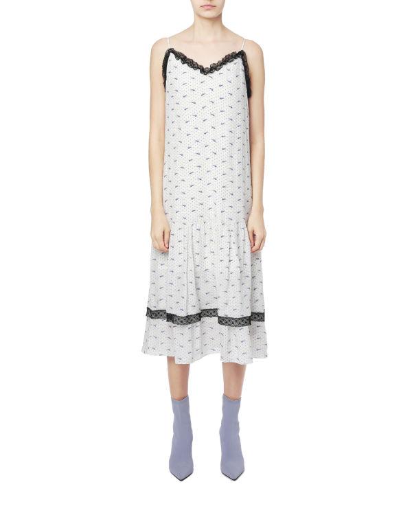 Tiered lace trim slip dress