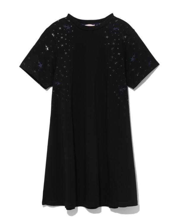 Metallic star embroidered dress