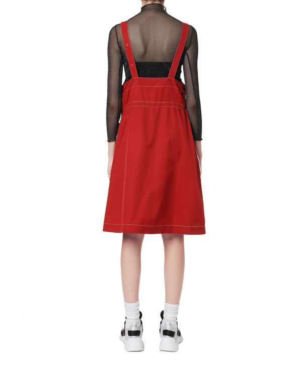 Side strap pinafore dress
