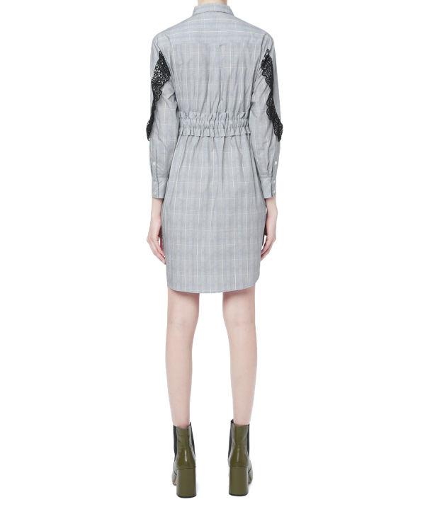 Crochet trim check dress