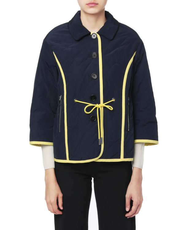 Trimmed quilt jacket