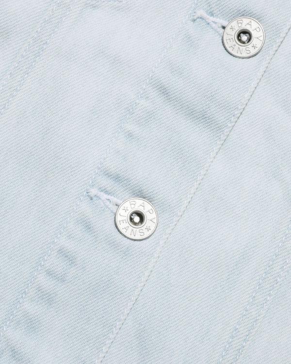 Moniker patch denim jacket