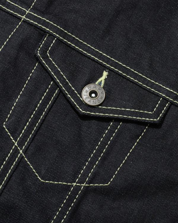 Logo band denim jacket