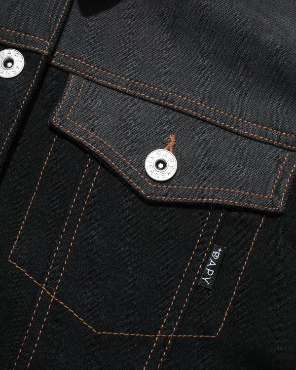 Contrast stitch denim jacket