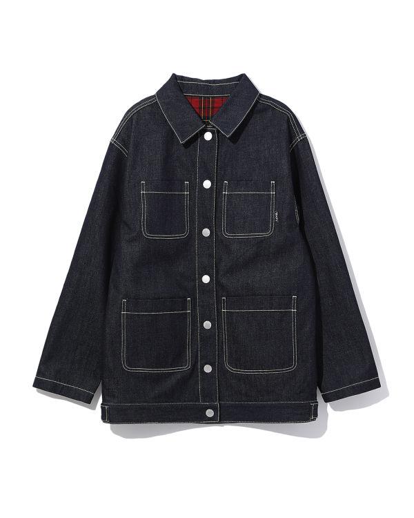 Oversize denim shirt jacket
