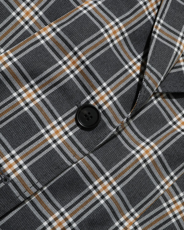 Panelled tartan blazer