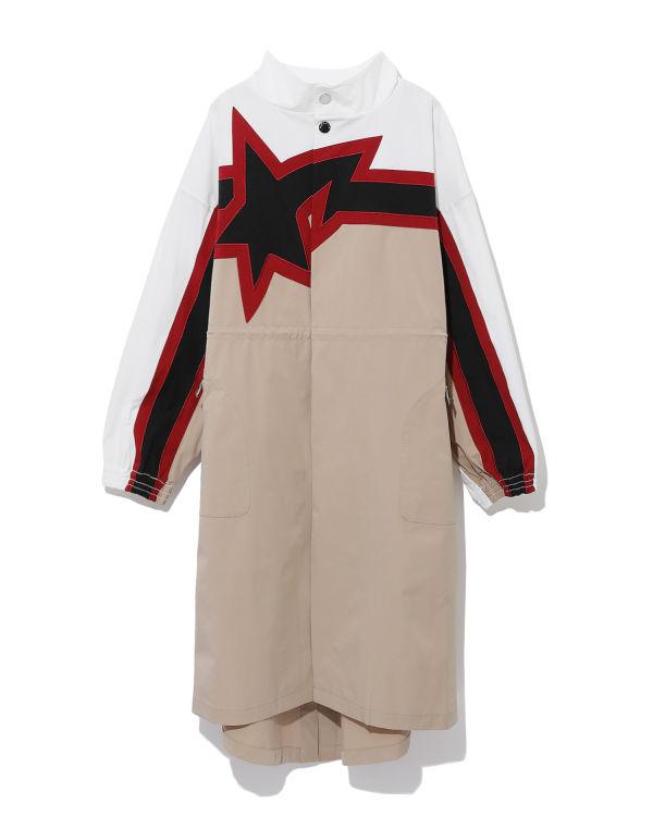 Star panelled overcoat