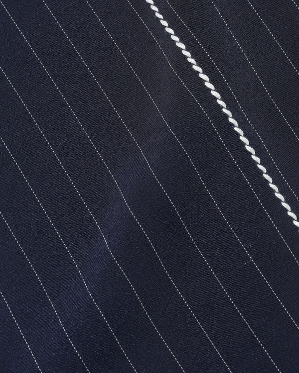 Moniker stripe overcoat
