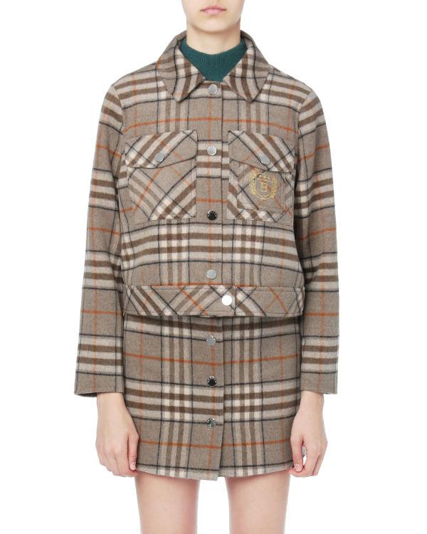 Plaid buttoned jacket