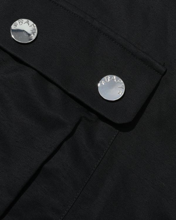 Contrast trim utility jacket