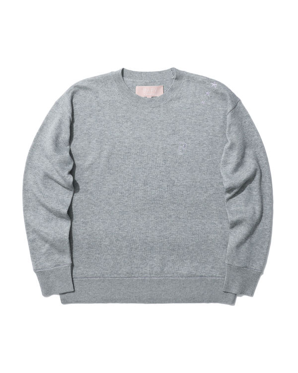 Logo embroidered knit sweater