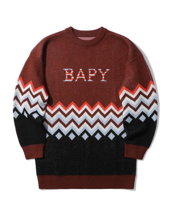 Logo zigzag knit sweater