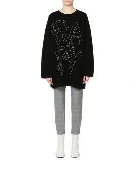 Oversized logo sweater