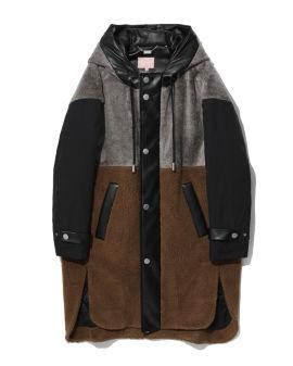 Panelled overcoat