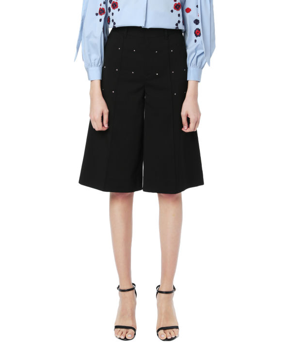 Embellished flared shorts