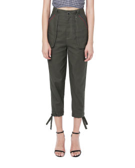 Tapered embroidery pants