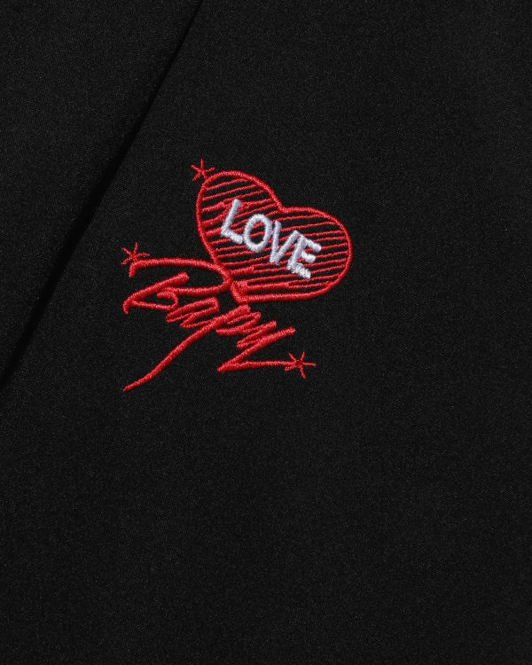 Love embroidered A-line skirt