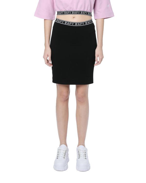 Logo taped pencil skirt