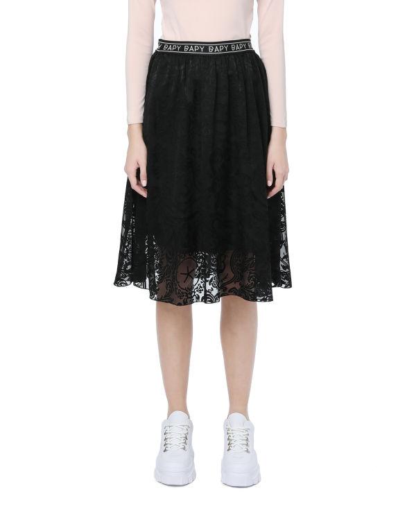 Logo jacquard skirt