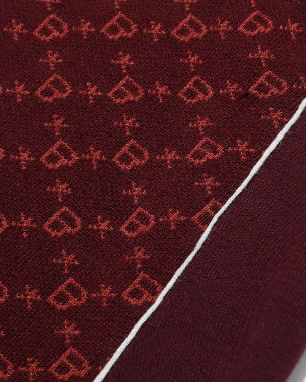 Monogram zip skirt