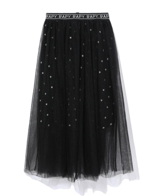 Sheer star print skirt