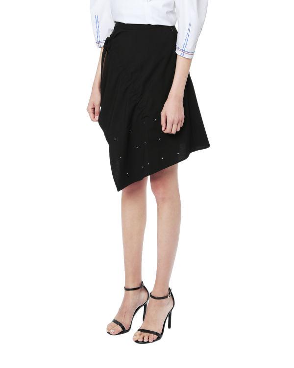 Embellished wrap skirt