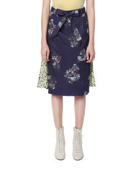 Contrast floral print skirt