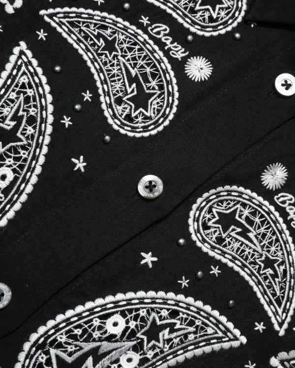 Star eyelet embroidered shirt